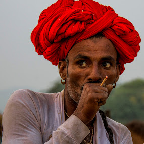 Kashh by Vyom Saxena - People Portraits of Men ( camel fair, pushkar camel fair, pushkar india, pushkar rajasthan, portrait )