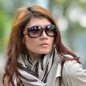 Woman with glasses by Agus Mulyawan - People Portraits of Women