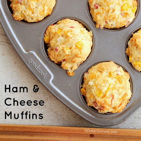 Ham and Cheese Muffins with Smithfield Anytime Favorites Diced Ham