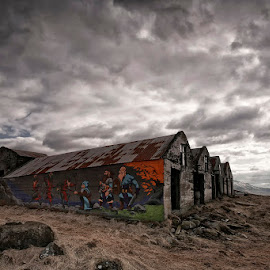 Battle House  by Þorsteinn H. Ingibergsson - Buildings & Architecture Decaying & Abandoned ( clouds, iceland, sky, nature, structor, landscape, abandoned )