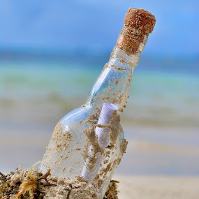 Message in a bottle by Irshad Rahimbux - Artistic Objects Other Objects ( bottle )