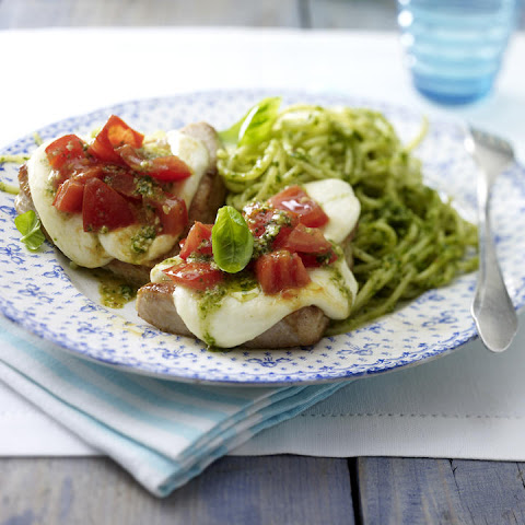 Turkey Cutlets with Pesto Spaghetti