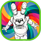 How to color Five Nights at Freddy kids coloring APK for Bluestacks