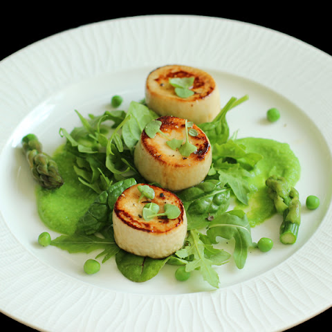 Vegan Scallops With Spring Greens