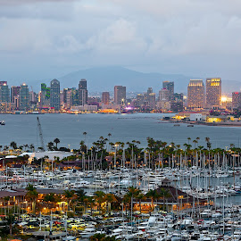San Diego by Dean Mayo - City,  Street & Park  Skylines ( san diego, skyline, point loma, photography, dean mayo )
