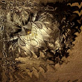LIGHT IN MY NIGHT by Carmen Velcic - Digital Art Abstract