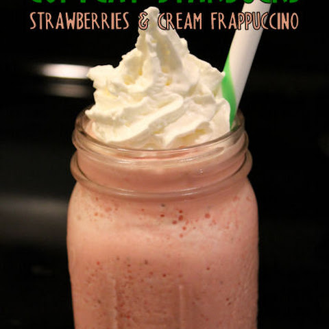 Copycat Starbucks Strawberries & Creme Frappuccino