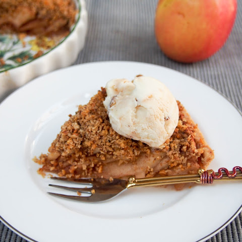 Walnut Crumble-topped Apple Tart