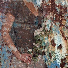Cherchez la femme... by Zenonas Meškauskas - Digital Art People ( femme, woman, lady, flowers, rust )