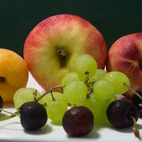 fruit stack by Trevor Smart - Food & Drink Fruits & Vegetables ( fruit wall, first attempt, still life, australia, darwin,  )