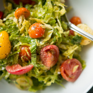 Brussel Sprout Salad With Mustard Vinaigrette
