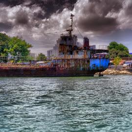 Damaged Ship by David Loarid - Transportation Boats