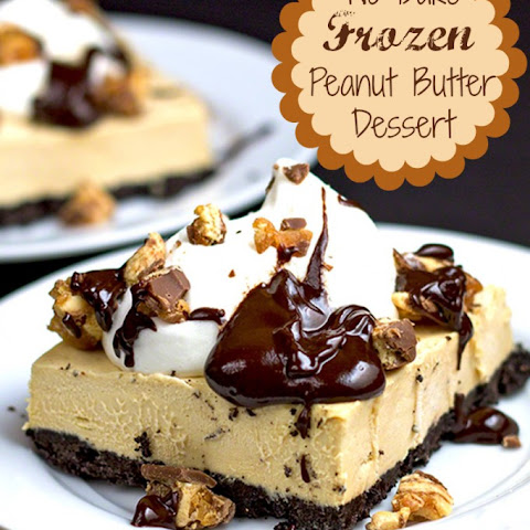 Easy Frozen Peanut Butter & Chocolate Dessert Bars
