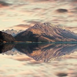 Lake Wakatipu Queenstown New Zealand   by Anupam Hatui - Landscapes Mountains & Hills ( lake wakatipu, reflection, queenstown, mountain, new zealand )