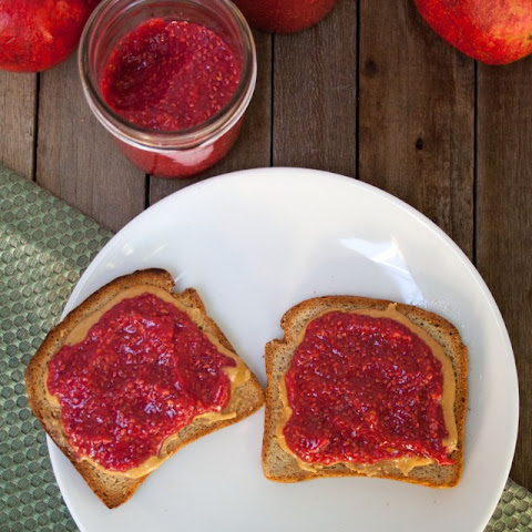 Raspberry Pomegranate Chia Jam