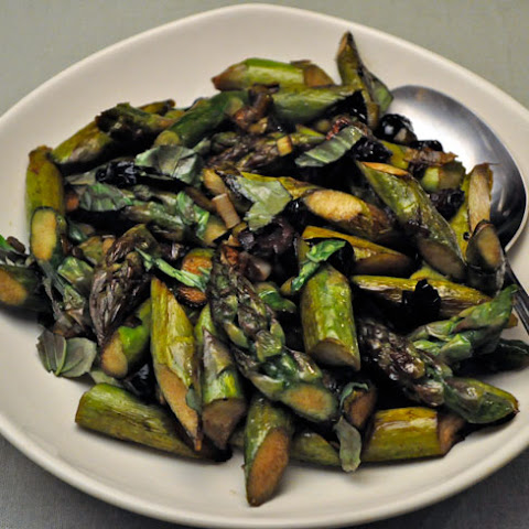 Sautéed Asparagus with Green Garlic and Olives