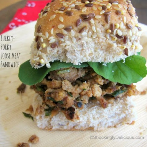 Turkey-Porky Loose Meat Sandwiches
