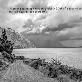Thought for the day by Vibeke Friis - Typography Quotes & Sentences ( quote, travel, landscape, lake coleridge,  )