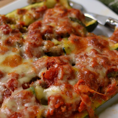Triple Cheese & Sausage Zucchini Boats