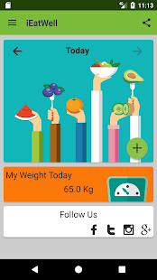 IEatWell : Healthy Eating Log Fitness app screenshot for Android