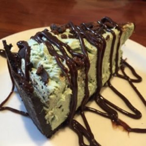 Grasshopper Thin Mint Cheesecake