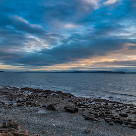 Clouds Over Puget Sound by George Cole - Landscapes Cloud Formations ( clouds, washington state, sky, puget sound, nature, shoreline, sea, ocean, landscape, pacific northwest )