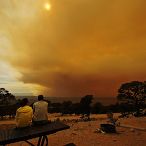 San Luis Smoke by Justin Giffin - News & Events Weather & Storms ( wildfire, san luis valley, west fork fire, colorado, campground, smoke,  )