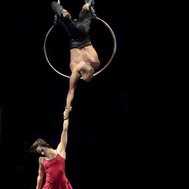 Delicate Power by Trevor Bond - People Musicians & Entertainers ( aerialists )