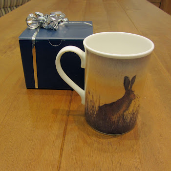 Hare bunny rabbit mug bone china