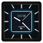 Blue Carbon Analog Watch Face Icon