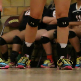 Eat... Sleep... Volleyball... by Dawn Moder - Sports & Fitness Other Sports ( shoes, knee pad, girls, floor, volleyball, sport, feet, gym, game )