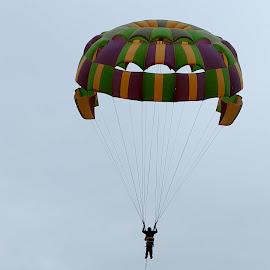 Parasailing by Abhishek Mahajan - Sports & Fitness Other Sports ( flying, adventure, sky, flying-high, parasailing, sports, self,  )