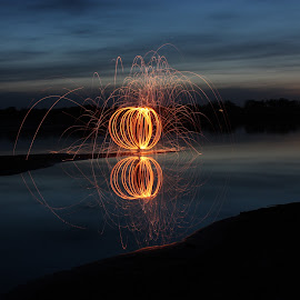 Fire Sphere by Raea Gooding - Abstract Light Painting ( steel wool )