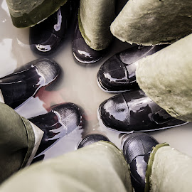 Boots by Sagar Jogadhenu - Artistic Objects Clothing & Accessories ( water, shoes, wet, boat, boots )