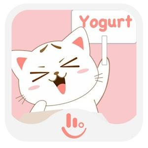 Cute Yogurt Keyboard Sticker