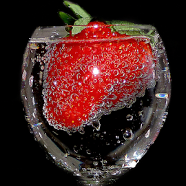 strawberry in glass by LADOCKi Elvira - Food & Drink Fruits & Vegetables ( fruits, glass,  )