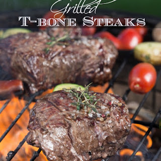Grilled T-bone Steaks With Sweet & Savory Sauce