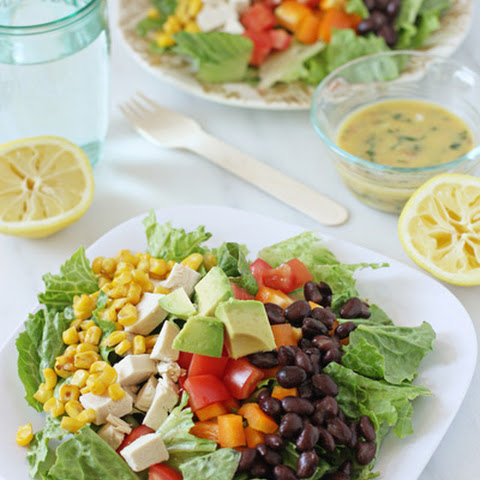 Chopped Southwestern Salad with Lemon Chipotle Dressing