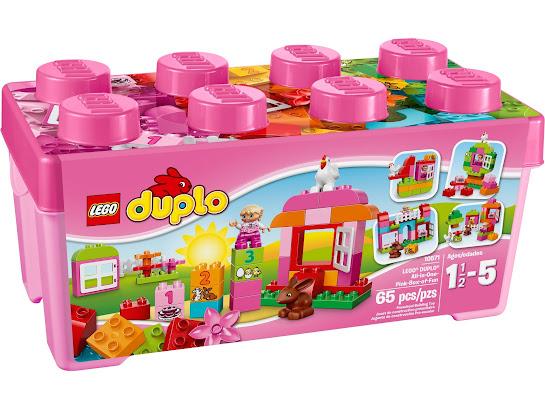"""Универсальный набор LEGO® DUPLO® """"Веселая розовая коробка"""""""