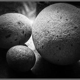 Spheres by Prasanta Das - Abstract Patterns ( three, stone, spheres )