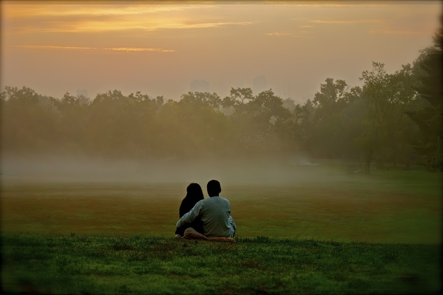Waiting for Sunrise by Patricia Tracy - People Couples