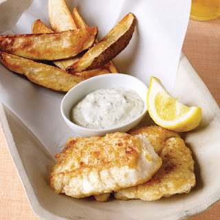 Lightened-Up Fish and Chips