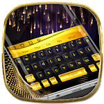 Black Gold Keyboard Icon