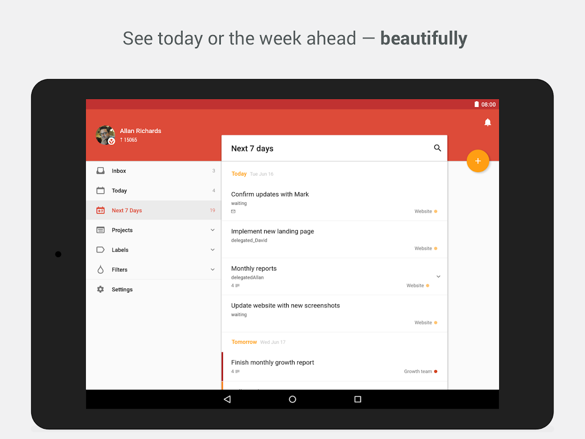 Todoist: To-Do List, Task List Screenshot 6