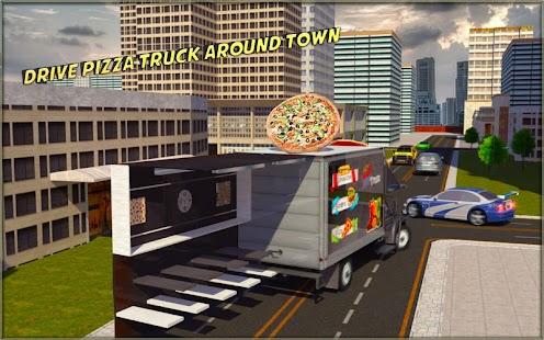 Lebensmittel-Lkw-Simulator Pizza-Lieferung Pickup Parkplatz android spiele download