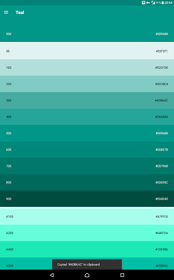 Material Design Color Screenshot 4