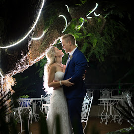 Dark by Lodewyk W Goosen (LWG Photo) - Wedding Bride & Groom ( night photos, wedding photography, wedding photographers, night photography, wedding day, weddings, wedding, groom and bride, bride and groom, wedding photographer, groom, bride groom )