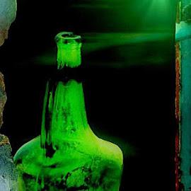 Green bottle by Marissa Enslin - Digital Art Things (  )