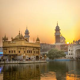 Golden Sunrise by KP Singh - City,  Street & Park  Vistas (  )