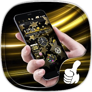 Theme Luxury Gold Star.apk 1.1.1